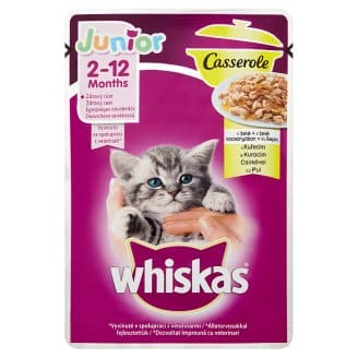 Whiskas casserole junior 85gr